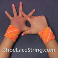 Orange Striped Cute Kid's Wrist Bands for Party, 2PAIRS