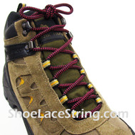 """Hot Pink and Black 54"""" Hiking/Work Boots Round Shoe Laces, 1Pair"""