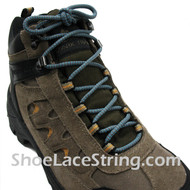"""Grey/Gray & Sky/Light Blue 54"""" Hiking/Work Boot Round Lace 1Pair"""