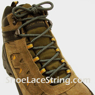 "Bluish Gray & Black Hiking/Work Boot 54"" Round ShoeLaces, 1Pair"