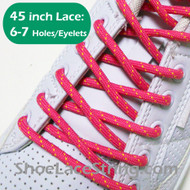 Fuchsia Pink and Yellow 45INCH Round Laces ShoeString 2Pairs
