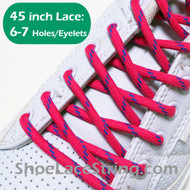 Hot Pink and Blue 45INCH Round ShoeLace String 2Pairs