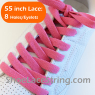 Fuchsia Pink 55INCH Flat ShoeLaces Shoe Strings 2PAIRs