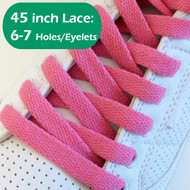 Fuchsia Pink 45INCH Flat Shoe Laces Shoe Strings 2PAIRs
