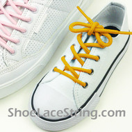 Gold Yellow Kids/27INCH Round ShoeLace ShoeString 2Pairs