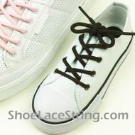 Black Kids/27INCH Round Shoe Lace Black ShoeString 2Pairs