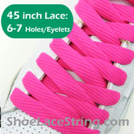 Hot Pink Flat Fat/Wide 45INCH ShoeLaces ShoeStrings 2PRs