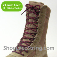 """Hot Pink & Black 71"""" Work or Combat/Tactic Boot Round Lace 1PAIR"""