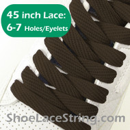 Brown 45IN Flat Wide/FAT Shoe Laces Sneaker Strings 2Pairs