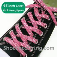 "Pink Cool Sparkling Twinkle 45"" Shoe/Sneaker Lace Strings 1Pair"