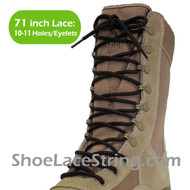 Black & Brown 71IN Work/Combat Boots Round Laces 1PAIR