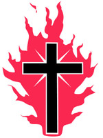 Cross Of Fire Sticker