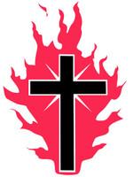 Cross Of Fire -  Bumper Sticker