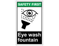 ANSI Safety First Eye Wash Fountain 1