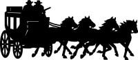 Cowboy and Stagecoach Decal #3