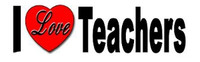 I Love Teachers - Bumper Sticker