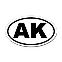 Alaska State Oval Sticker