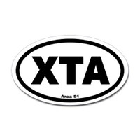 Area 51 Airport Code Oval Sticker