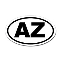 Arizona State Oval Sticker