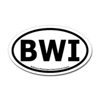 Baltimore Washington International Airport Oval Sticker