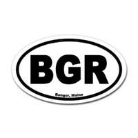 Bangor, Maine Airport Oval Sticker