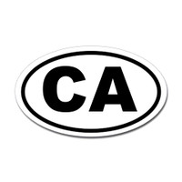 California State Oval Sticker