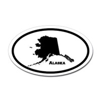 Alaska State Oval Sticker #1