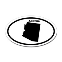 Arizona State Oval Sticker #1