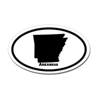 Arkansas State Oval Sticker #1
