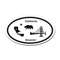 California Dreamin' Oval Sticker