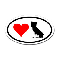 California Love Oval Sticker