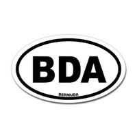 Bermuda Airport Oval Sticker