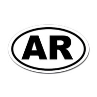 Arkansas State Oval Sticker