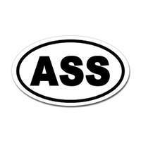 Ass Oval Sticker