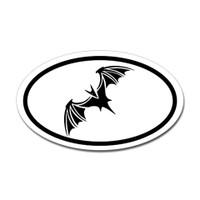 Bat Oval Sticker