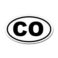 Colorado State Oval Sticker