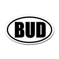 Bud Oval Sticker