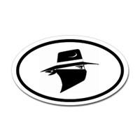 Bandit Oval Sticker