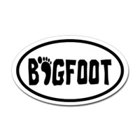 Bigfoot Oval Sticker #2