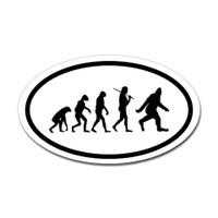 Bigfoot Evolve Oval Sticker
