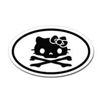 Hello Kitty Skull Oval Sticker