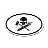Logger Skull Oval Sticker