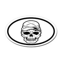 Confederate Skull Oval Sticker #2