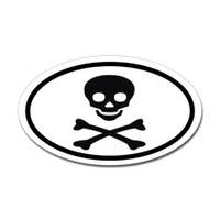 Skull and Crossed Bones Oval Sticker #1