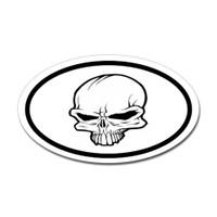 Crown Skull Oval Sticker
