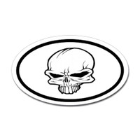 Crown Skull Oval Sticker