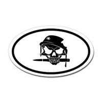 Soldier and Bayonet Skull Oval Sticker