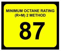 Minimum Octane Rating 87
