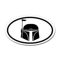 Boba Fett Oval Sticker