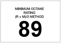 Minimum Octane Rating 89 (White)